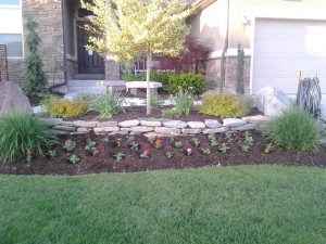 Front center flower bed