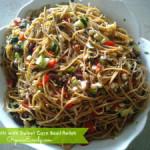 Spaghetti with Sweet Corn Basil Relish