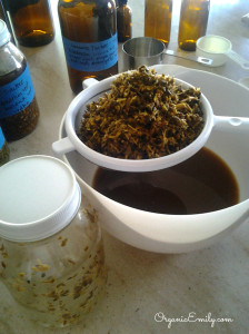 Straining Herbs 1