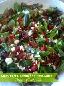 Strawberry Pecan Feta Salad