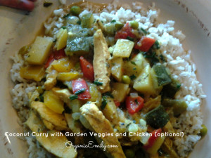 Coconut Curry with Veggies and Chicken