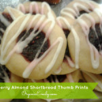 Raspberry Almond Thumb Print Shortbread