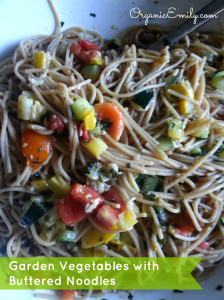 Garden Vegetables with Buttered Noodles