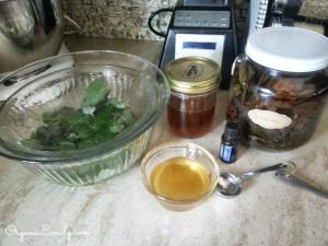 Ingredients to make Sore Throat Spray or Gargle
