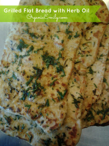 Naan with herb oil