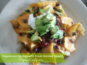 Vegetarian Nachos with Fresh Garden Salsa