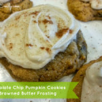 Chocolate Chip Pumpkin Cookies with Browned Butter Frosting!