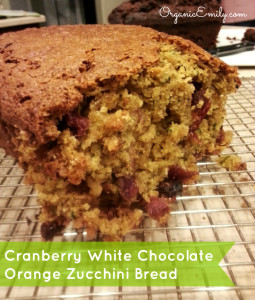Cranberry White Chocolate Orange Zuchinni Bread