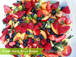 Fresh Herb Fruit Bowl