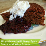 Gingerbread with Spiced Berry Sauce