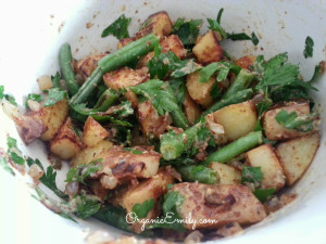 Grilled Potatoes with Green Beans, Parsley and Whole Grain Mustard Dressing