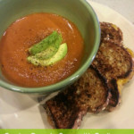 Homemade Garden Tomato Soup with Garlic Parmesan Grilled Cheese Sandwiches