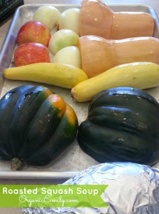 Roasted Veggies for Fall Squash Soup 1