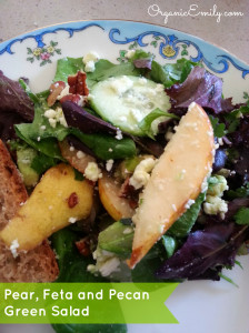 Pear, Feta and Pecan Salad