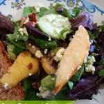 Pear, Feta and Pecan Green Salad