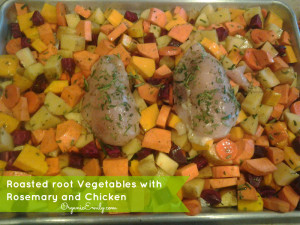 Roasted Vegetables with Rosemary and Chicken
