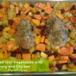Roasted Root Vegetables with Rosemary and Chicken
