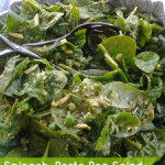 Spinach, Pesto Pea Salad
