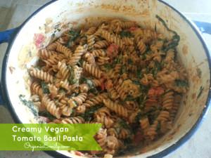 Creamy Vegan Tomato, Basil Pasta