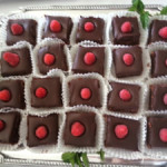 Raspberry Ganache Brownies