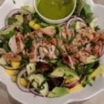 Mango Mint Chicken Salad with Creamy Avocado Dressing