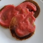 Oatmeal Protein Pancakes with Fruit Sauce