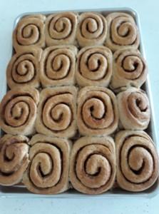 Natural Yeast Cinnamon Rolls Baked