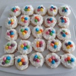 Easter Shortbread Nest Cookies with Almond Cream Cheese Frosting
