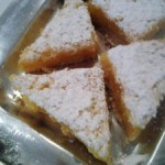 Lemon Shortbread Triangles