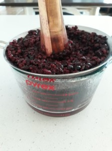cooked choke cherry