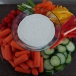 Veggie Tray with Organic Ranch Dip (Paleo option)
