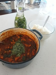 Zucchini and Sweet Potato Curry