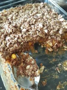 Peach Cobbler Crisp